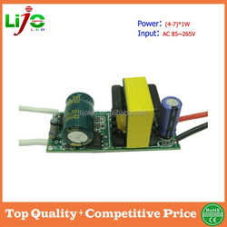 Hot sell led driver for residential lights AC220V (4-7)*1W 300ma constant current build