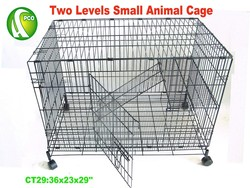 TWO Levels Small Animal Cage-CT29
