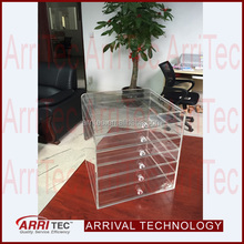 acrystal acrylic acrylic deco cosmetic organizer clear storage box makeup display cabinet