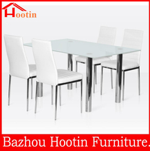 2015 new design modern high quality glass mirror dinning table