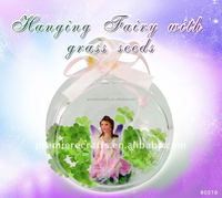 Hanging Glass Ball Fairy Decoration with Grass Seed