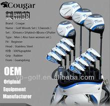 Cougar Men's Golf Clubs Sets 13 Woods with Golf Bag