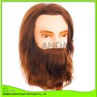 alta qualidade cabelo humano do sexo masculino manequim com cabeça de barba