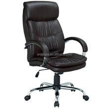 2015 High back comfortable Executive office chair with chrome armrest