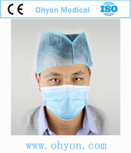 Disposable non woven 3 ply fashion dust mask face mask with design ear-loop/tie