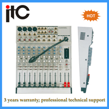 SMT Professional digital stereo audio sound mixer system with LED DJ light