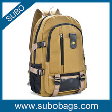 Wholesale hot selling canvas backpack for men and women