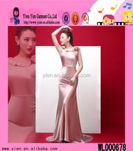 2015 Fashion Hot Sale Floor Length Evening Dress Boutique Shop New Arrived Elegant Adult Lady Girls Party Dress