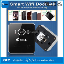 Shenzhen ATZ 2015 New WIFI IP Doorbell Smart Wireless Door Phone Fashion Design Acrylic Waterproof Planet
