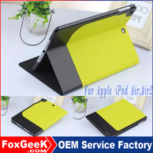 High Quality Red-Black Two-Tone Dual Color Folio Book Fashion Leather tablet case cover For ipad 2 3 4 With Stand Funtion