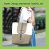 Promotional hot sale foldable eco cotton shoulder bag for ladies