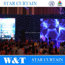 manufacture factory W&T backdrop designs / led wedding stages curtain