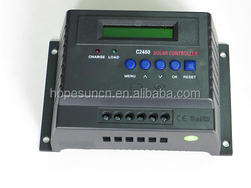 12V/24V 40A 50A 60A solar controller with LCD display solar charge controller