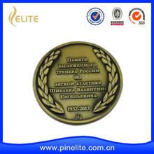custom cheap antique bronze die struck metal coin