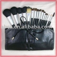 Nice high quality goat hair pony hair and synthetic hair makeup brush set