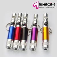 Mini Keychain LED Flashlight & compass and Whistle