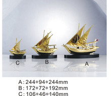 hign end metal ship model with three size for souvenir gifts
