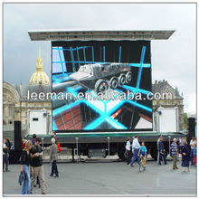 curved video wall p10 outdoor led display module frame outdoor smd&dip led display p6