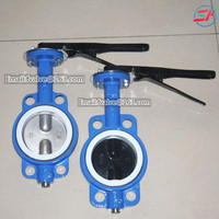 cast iron 6 inch flange rubber seal epdm seat wafer butterfly valve