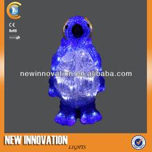 32L Christmas White Led Blue Acrylic Penguin Decoration