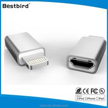 HLT Aluminum shell Micro USB female adapter for smartphone