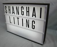 A3 LED wooden and plastic light box