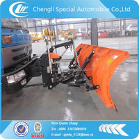 Dongfeng road sweep truck with snow removal machine