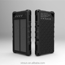 New arrival portable solar charger 8000mah/10000mAH,waterproof solar power bank for mobilephone
