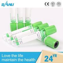 OEM acceptable various style heparin lithium+gel tube