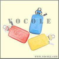 antique multicolor leather jewelry key chain wallet/key case wallet/car key holder