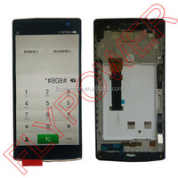 For OPPO Find 7 X9070 X9077 lcd screen display with touch screen digitizer + frame assembly by free Shipping; 100% warranty