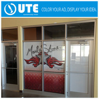 New design vinyl decal advertising window stiker glossy pvc sticker