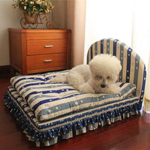 2014 new product novel pet bed for dog cats with mattress quilt pillow Indoor dog cat kennels bed supplier factory