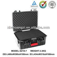 Waterproof dustproof plastic equipment case for carrying tools