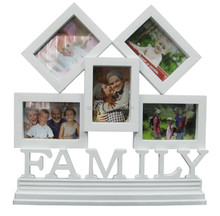 Cheap Family Picture Frames, High quality Plastic Table Stand Photo Frame Collage