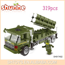 Plastic toy building blocks missile vehicles block toys for kids
