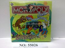 Caliente venta intelectual Scooby inglés juego de mesa / popular monopoly fabricante