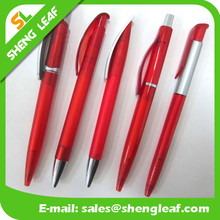 Red best pens red color automatic pens logo printed