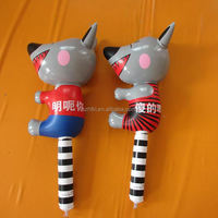 custom advertising inflatable party wolf hammer toy cartoon with slogan