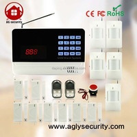 wireless GSM SMS smart alarm System with clock display support support 150 remote control and 150 sensors