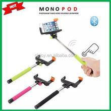 2015 new product selfie stick monopod buildin bluetooth,mobile phone monopod,bluetooth shutter 3 in 1 bundle kit Z07