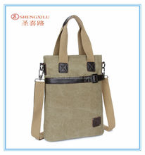 New men fashion tote bag discount vintage big leather canvas handbag
