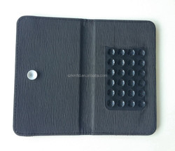 New Arrival Flip Leather Mobile Phone Cover With Sucker