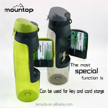 Factory provide hot sale good quality BPA free plastic water bottle with storage fashion sport bottle