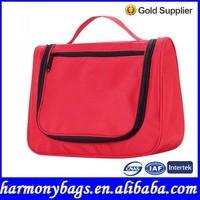 U-shaped red travel hanging cosmetic organizer