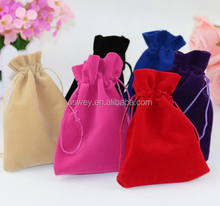 Wholesale velvet drawstring puches,colored large cosmetic storage bags