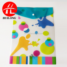 PP plastic pp file folder bag with button