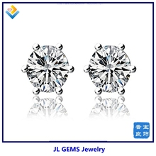 2014 New Products Plain Stud Earrings 925 Sterling Silver Fashion Jewelry