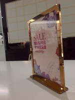Customized and electroplate poster display stand ,hot sale Multi-purpose for photoframes Store