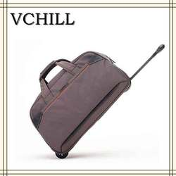 China factory custom polyester travel luggage bag travel bag rolling
